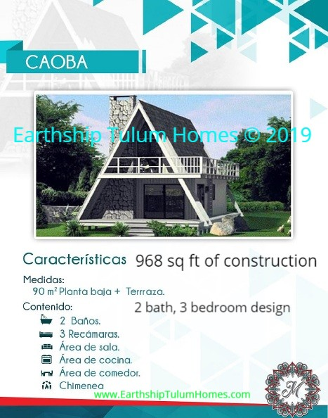 The CAOBA - 2 bath 3 bedroom 968 sq ft home